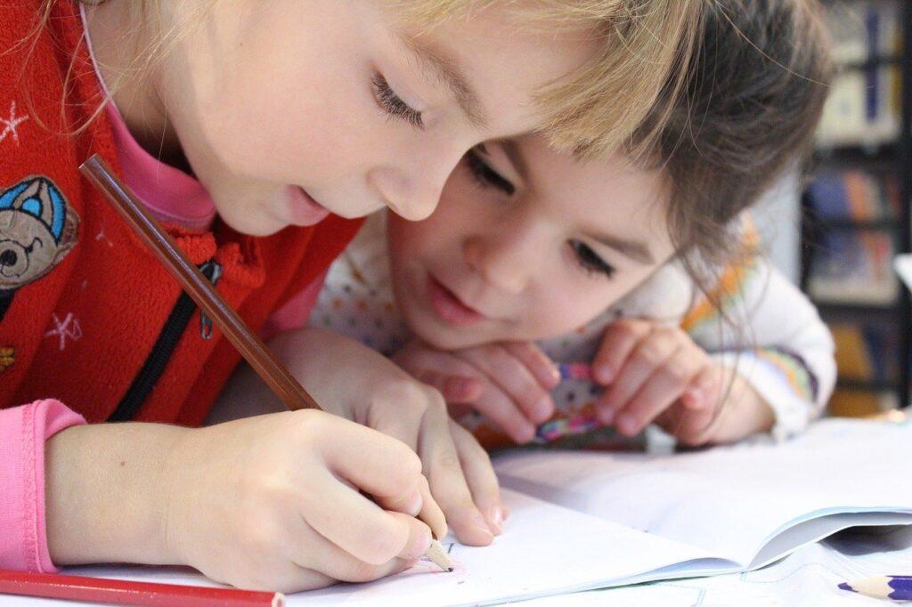 kids, girl, pencil